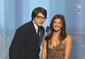 BRANDON ROUTH Y TERI HATCHER IN THE GOLDEN GLOBE AWARDS