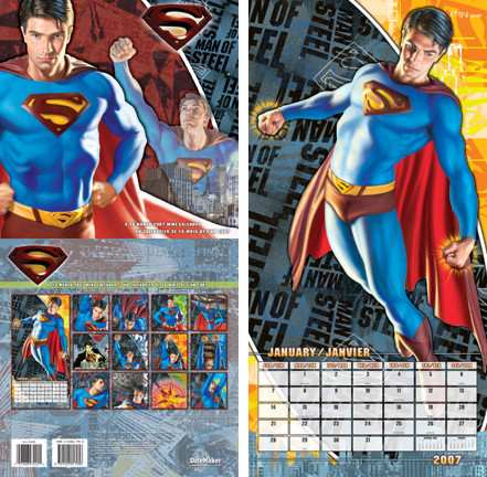 SUPERMAN RETURNS CALENDAR