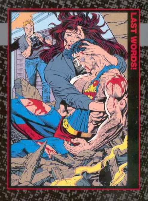 TRADING CARDS THE DEATH OF SUPERMAN