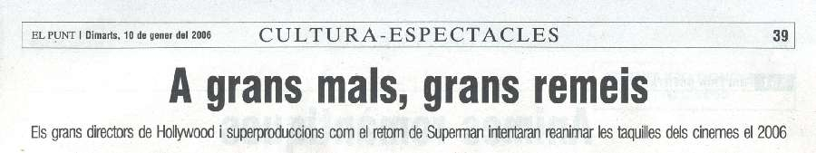 SUPERMAN RETURNS EN EL PUNT