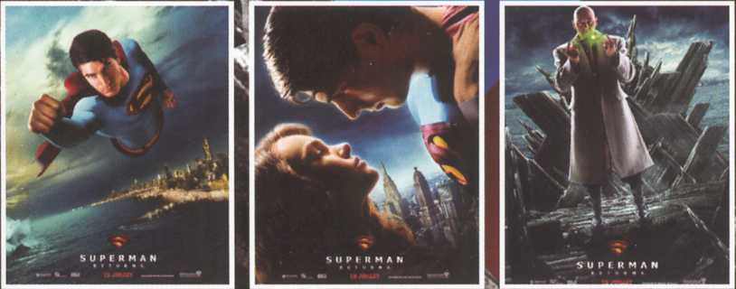 SUPERMAN RETURNS POSTERS FRANCESES