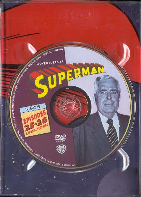 PACK DE 5 DVDs SUPERMAN BY GEORGE REEVES
