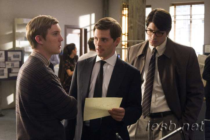 SUPERMAN RETURNS. Brandon Routh, James Marsden and Sam Huntington