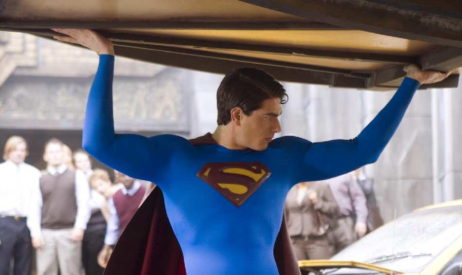 SUPERMAN RETURNS / BRANDON ROUTH. DETALLE DE LA FOTOGRAFIA DE ALTA RESOLUCION DE BLUETIGHTS