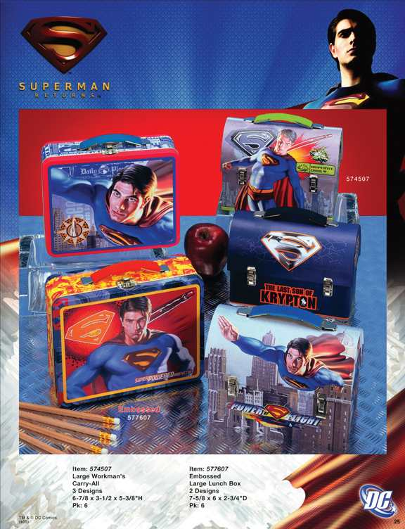 SUPERMAN RETURNS MERCHANDISING