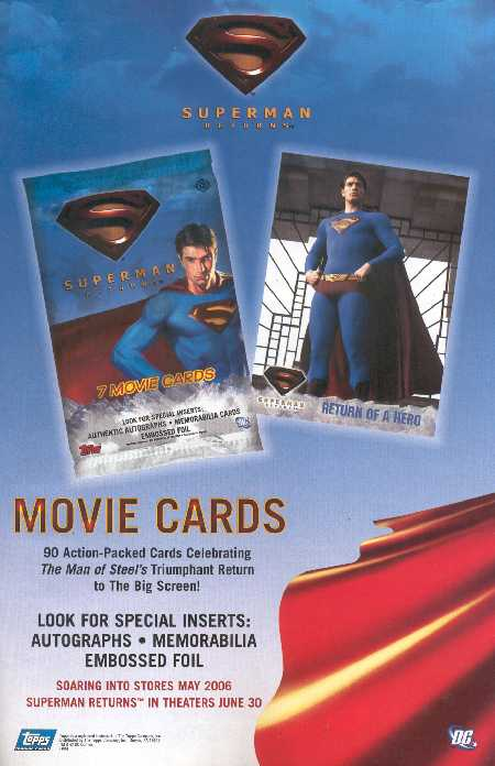 SUPERMAN RETURNS MOVIE CARDS
