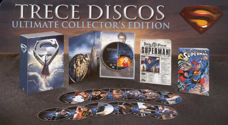 PACK DE 13 DVDs SUPERMAN ULTIMATE COLLECTOR'S EDITION