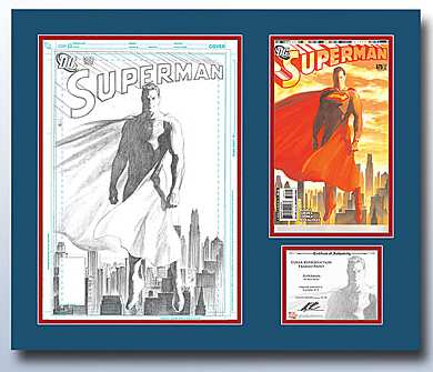 SUPERMAN 675 DC COVER ART REPRODUCTION PRINT