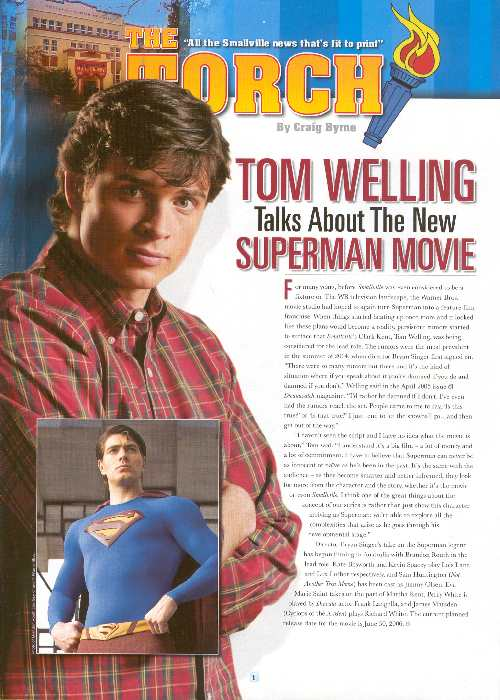 TOM WELLING - SUPERMAN RETURNS