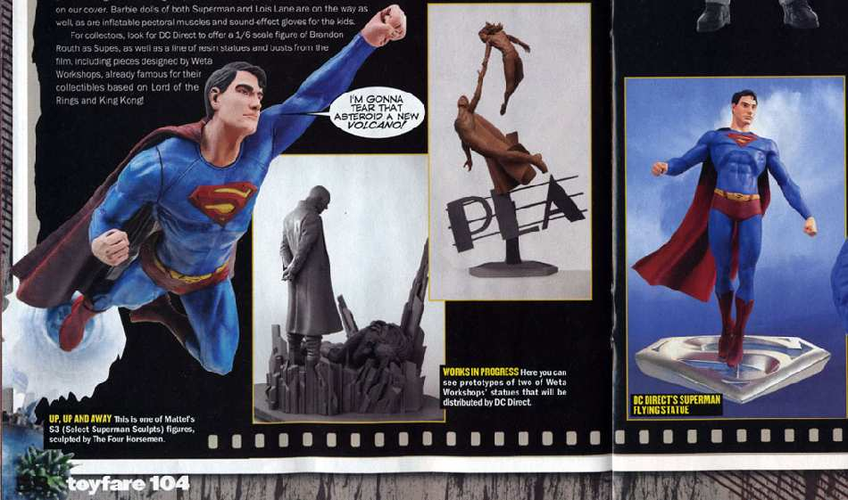 SUPERMAN RETURNS EN  LA REVISTA TOYFARE