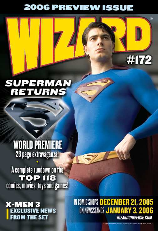 SUPERMAN RETURNS EN WIZARD #172