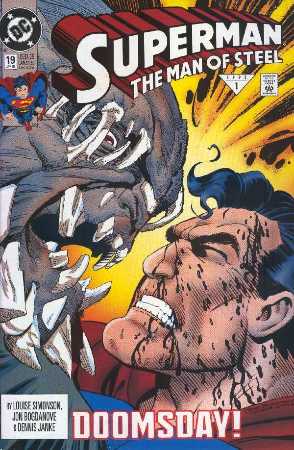 SUPERMAN THE MAN OF STEEL #19